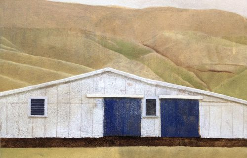 Shed 39x48cm oil on canvas