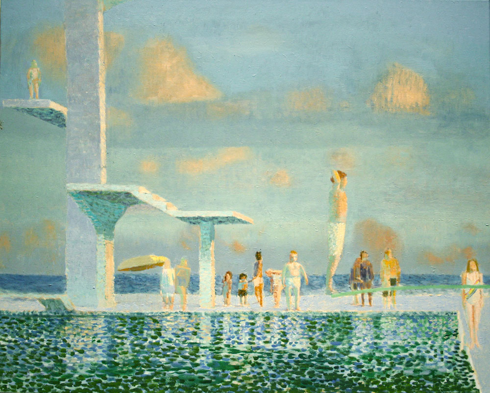 Diving Paddy 60x70cm Oil on canvas