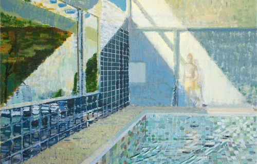 Private Pool 35x42cm Oil on Canvas